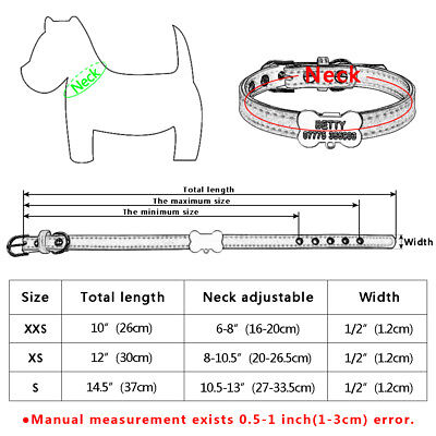 Personalized Cat Dog Collar Bone Shape Black Tags Engraved Name Phone with Bell 2