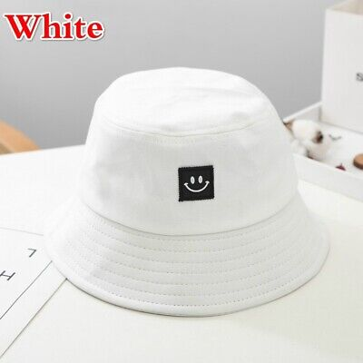 Unisex Foldable Smile Bucket Hat Outdoor Sunscreen Cap Smile Face Fisherman Hats 8
