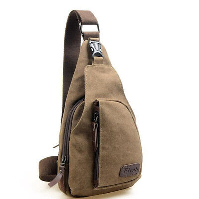 Men's Small Chest Sling Bag Travel Hiking Cross Body Messenger Shoulder Backpack 5