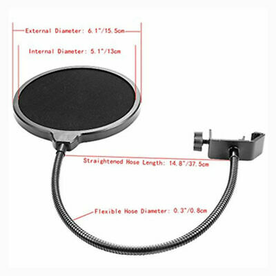Microphone Suspension Boom Arm Desktop Stand Mic Holder Mount Bonus Pop Filter 8