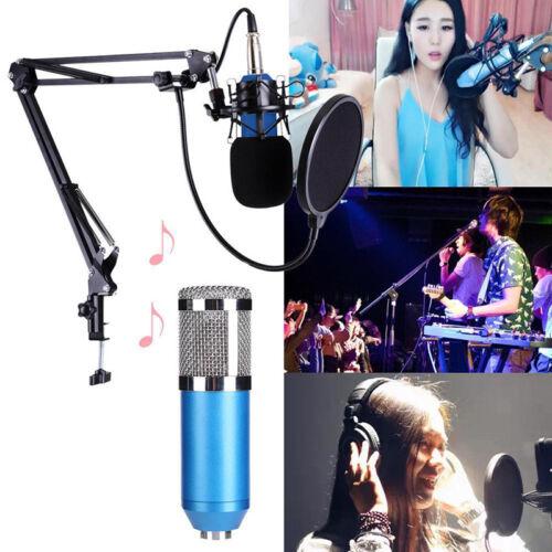 BM800 Dynamic Condenser Microphone Sound Studio KTV Singing Recording SP 6