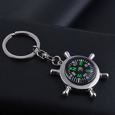 Unisex Fashion Compass Metal Car Keyring Keychain Key Chain Ring Keyfob 3