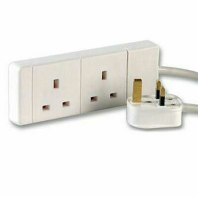 2 Way UK 13Amp Extension Lead, Standard Lead – 2 Gangs & 3m Long Cable 3