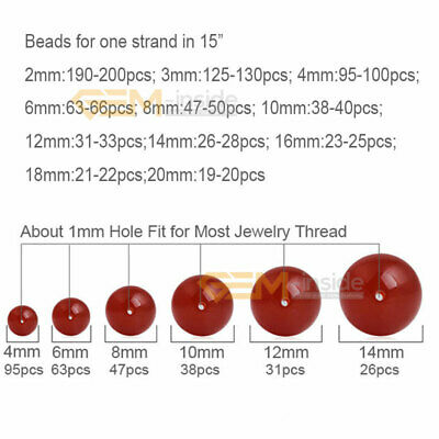"""Wholesale Lot Natural Gemstone Round Spacer Loose Beads 15"""" 6mm 8mm 10mm 12mm 2"""