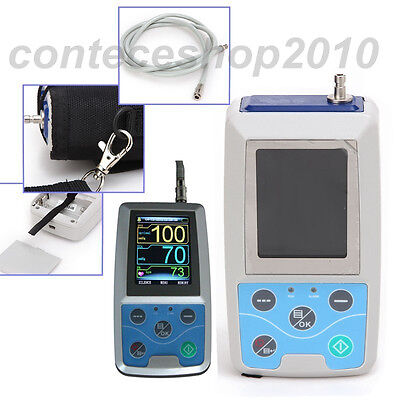 24H Ambualtory Blood Pressure Monitor, NIBP Holter with 3 Cuffs, usb pc software 11