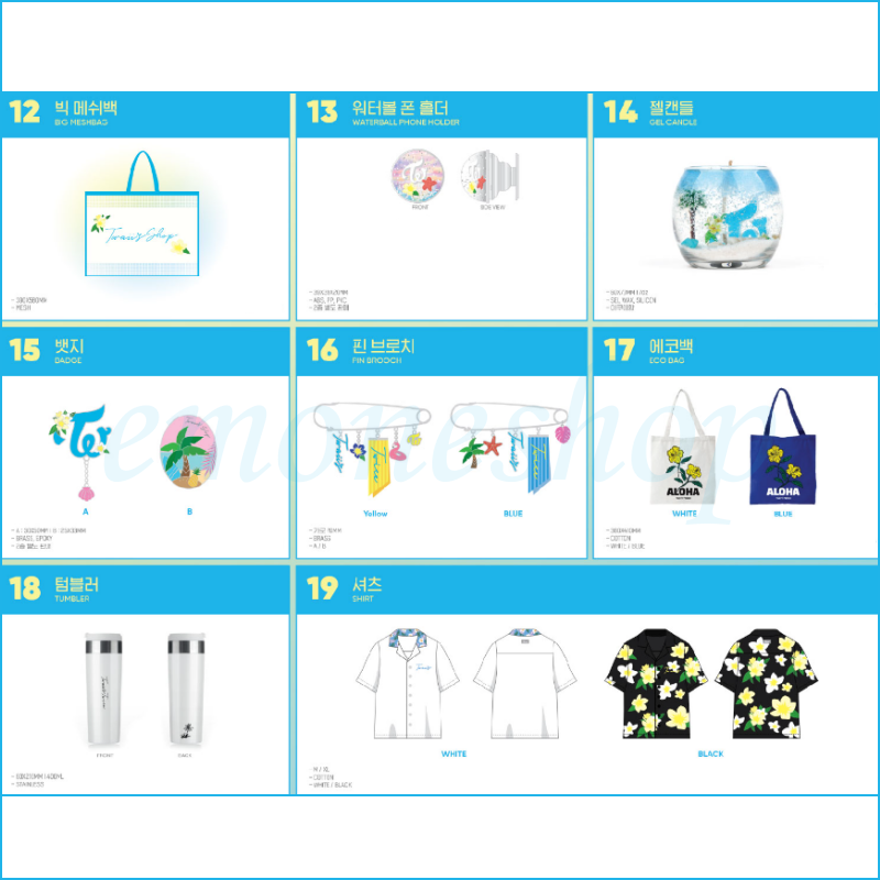 KPOP TWICE [ Twaii's Shop ] in SEOUL POP UP STORE OFFICIAL MD + Tracking No. 4