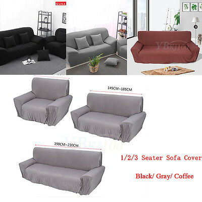 1-3 Seater Stretch Loveseat Sofa Couch Protect Cover Slipcover Washable Elastic 6