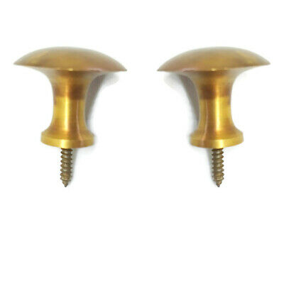 9 medium screw KNOBS pulls handles antique solid heavy brass drawer knob 30mm B 7