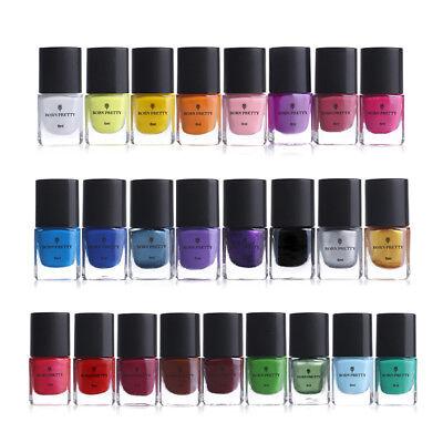 BORN PRETTY 6ml Nail Stamping Polish Purple Nail Art Varnish for Stamp Stencils 6