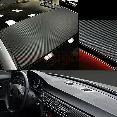 3D Waterproof Carbon Fiber Vinyl Car Wrap Sheet Roll Film Sticker Decal Paper 7