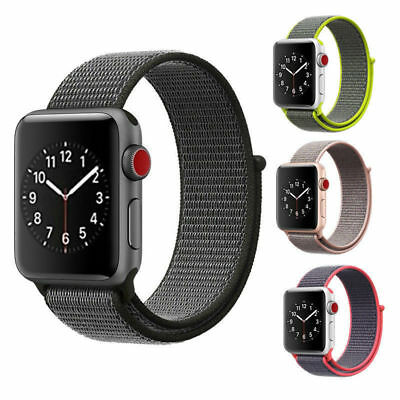 Für Apple Watch Nylongewebte Band Nylon Sport Loop Armband Serie 4 3 2 1 38 42mm 3