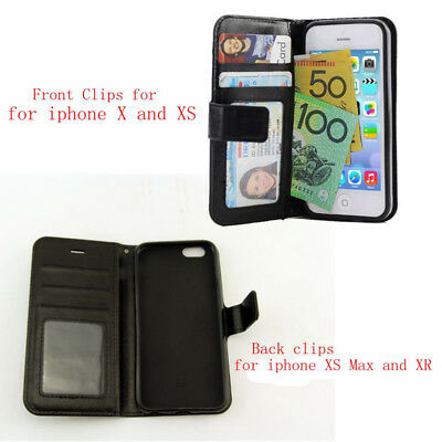 iPhone X XR XS MAX Case, Card Holder Leather Wallet Leather Flip Cover Stand 2