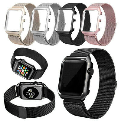 For Apple Watch Series 4 3 2 1 Magnetic Milanese Loop Band 38mm 42mm 40mm 44mm 4
