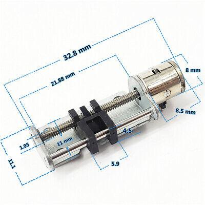 DC 3V-5V 2-Phase 4-Wire Micro Mini 8mm Stepper Motor Linear Screw Slider Block 2