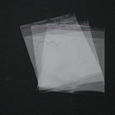 Clear Cellophane Cello Bags Plastic OPP Card Display Self Adhesive Peel Seal 4
