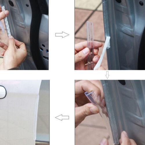 8PCS Clear Car Side Door Edge Defender Protector Trim Guard Protection Strip 2