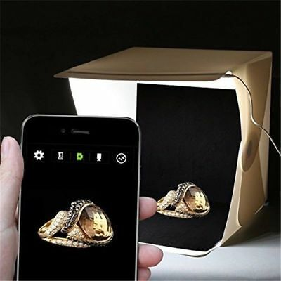 Box Foto Fotografico Led Foto Cubo Sfondo Nero Bianco Pieghevole Tenda Fotografi 5