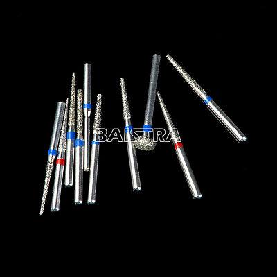 Dental Diamond Burs Bur drills Set Kit FG101-FG114 for Handpiece Air Turbine 9