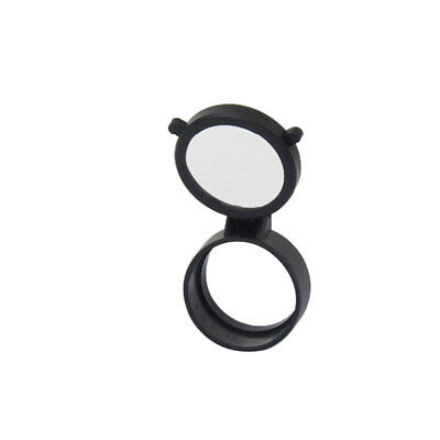 Rifle Scope Quick Flip Spring Up Open Gun Lens Cover See-thru Objective Cap 2