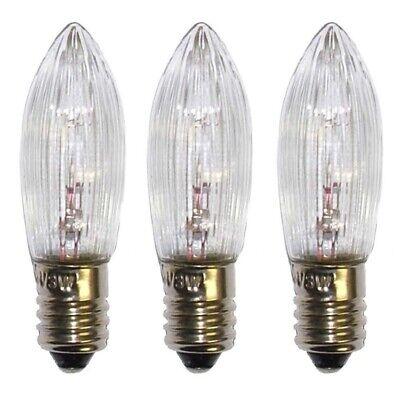 20 Stücke LED E10 10V-55V Topkerzen Riffelkerzen Spitzkerzen Ersatz Lichterkette 11