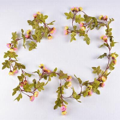 Cute 7Ft Artificial Fake Silk Rose Flower Hanging Garland Garden Wedding Decor 8