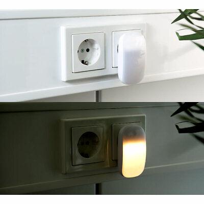 0,25 W Lunartec Nachtlampe: Kompaktes LED-Steckdosen-Nachtlicht 1 lm D/ämmerungssensor Baby-Nachtlicht