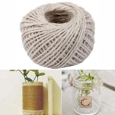 50M weiß Farben Verpackungs Geschenk Hanf Seil Band Schnur Schnur-Schnur-