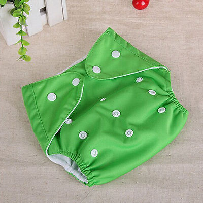 Adjustable Reusable Lot Baby Kids Boy Girls Washable Cloth Diaper Nappies One 9