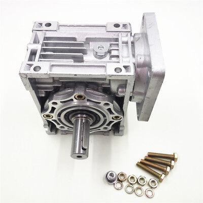 Worm Gear Reducer RV040 NEMA24/34 Speed Gearbox 10 15 20 25 30 40 50 60 80 100:1 3
