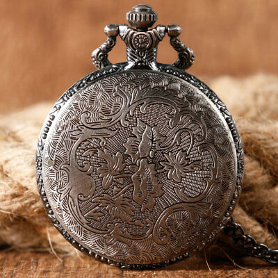 Game of Thrones Stark House Crest Wolf Cool Quartz Pocket Watch Necklace Chain 2