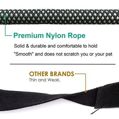 Large Heavy Duty Braided Nylon Dog Leash with Handle for Dog Training Walking 6