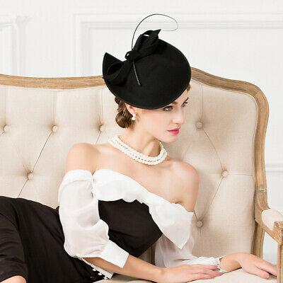 Ladies Felt Wool Fascinator Cocktail Formal Wedding Bridal Hat Headpiece CK024 2