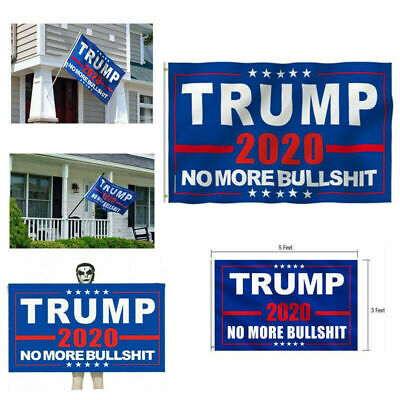 "Donald Trump 2020 Flag No More Bullshit 3X5"" MAGA Flag Banner Flag US STOCK A+++ 4"