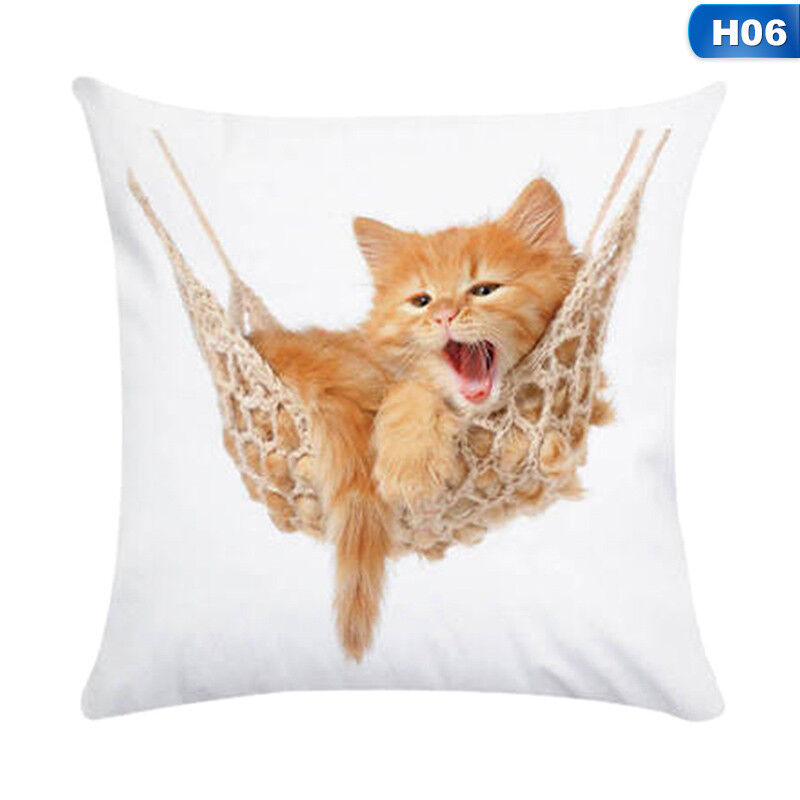 1X Animal Cute Cat Pillow Case Pet Cushion Cover For Home Pillowcase Decorations 7