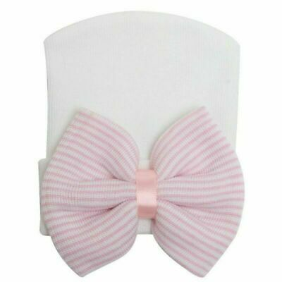 Newborn Baby Girl Big Bow Beanie Hat Cap Boy Cotton Headband Kids Hair Accessory 6
