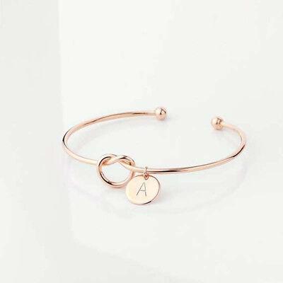 Personalized Initial Knot Bracelet Monogram Bracelet Bridesmaid Letter Bracelet 4
