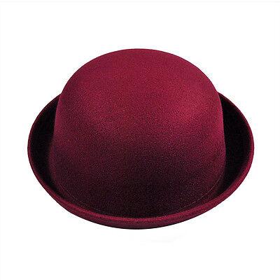 Mode Damen Wollmischung Hut Filz Vintage Trendy Damen Derby Melone Kappe Farben
