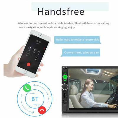 "7 ""Doppel Autoradio Stereo MP5 MP3 Player 2Din Bluetooth USB FM AUX IN + Rahmen 5"
