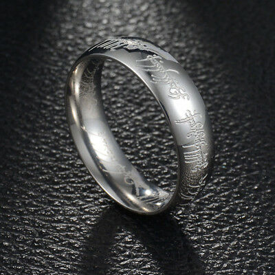 Lord of the Rings The One Ring Power Band 6mm Unisex Stainless Steel Size 6-13 8