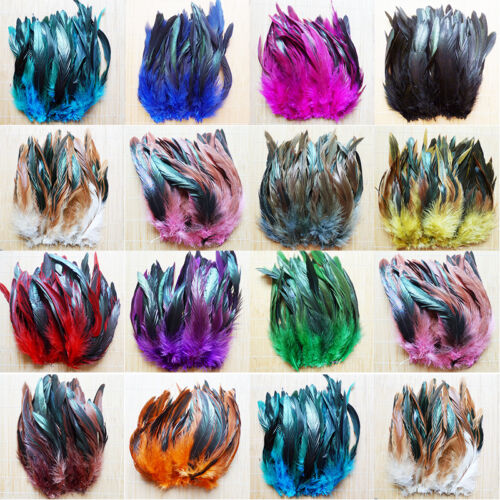 Wholesale 50/100pcs Beautiful Rooster Tail Feather 6-8inch/15-20cm Hot 3