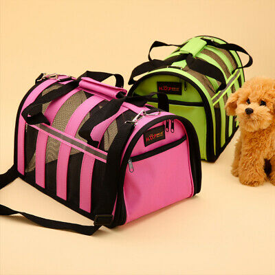 Pet Carrier Soft Sided Cat / Dog Comfort Travel Tote Bag Airline Approved S/M/L 11