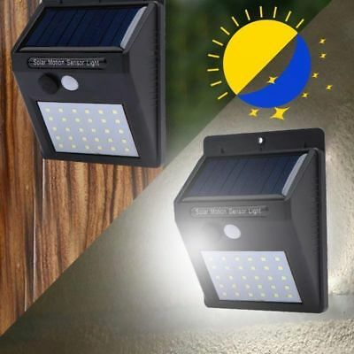 30 LED Solar Powered PIR Motion Sensor Wall Security Light Garden Outdoor Lamp 2