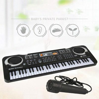 61 Keys Digital Electric Piano Music Electronic Keyboard Organ Mini Microphone 6