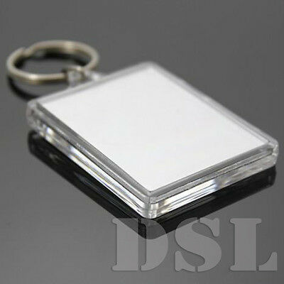 50x35mm 35x24mm Insert Clear Blank Acrylic Plastic Photo Keyrings Personalise UK 5