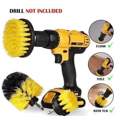 3PCS Pinsel Power Bohrbürste Drill Scrubber Brush Bohrbürste Cleaner 12