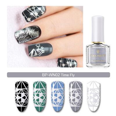 6ml/15ml BORN PRETTY Nail Stamping Polish White Black Nail Art Varnish 11