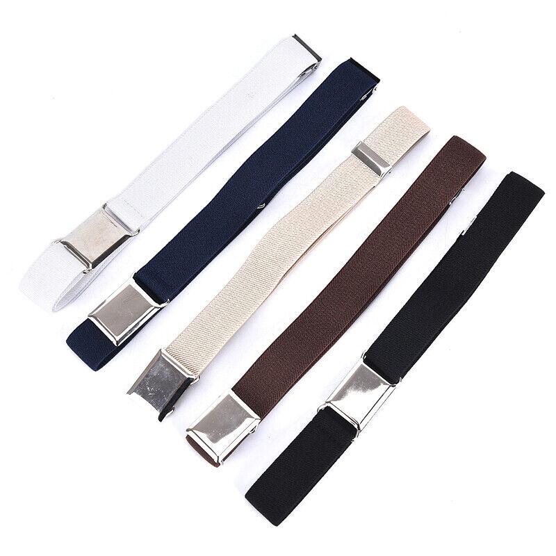 Children Solid Color Unisex Canvas Belts Boys Girls Elastic Belt Adjustable MC 5