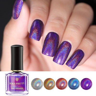 BORN PRETTY Flourish Holographic Nail Polish Laser Glitter Varnish 6ml 7