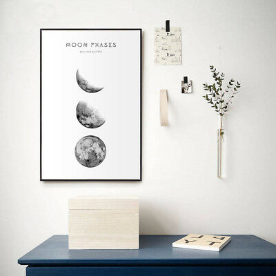 Moon Phases Abstract Nordic Poster Prints Wall Art Canvas Painting Picture Decor 3
