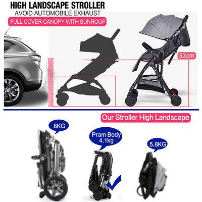Lightweight Compact Fold Baby Stroller Pram Pushchair Travel 4